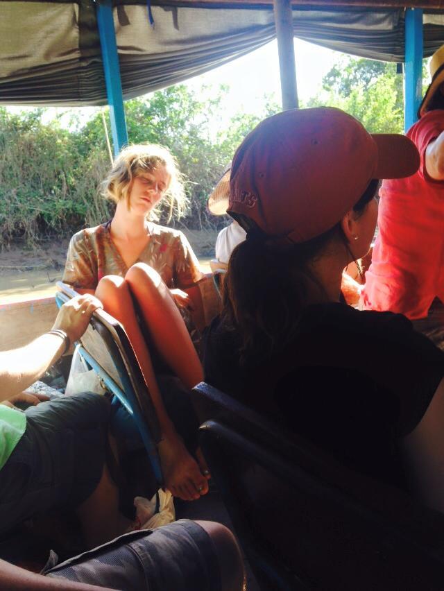 Passagère bateau Siem Reap- Battambang Cambodge