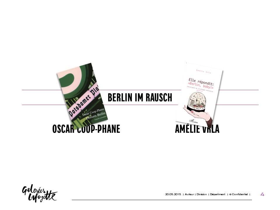 """""""BERLIN IM RAUSCH"""" -  Rencontre, lecture et discussion avec Oscar Coop-Phane et Amélie Vrla"""